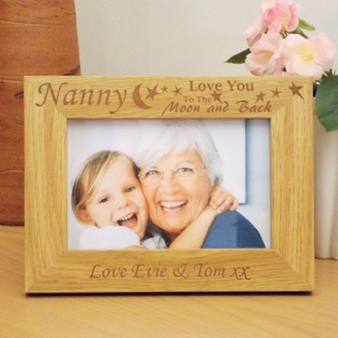 Personalised 'Love You To The Moon & Back' Wooden Photo Frame